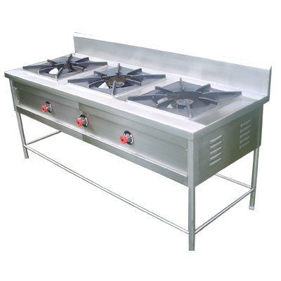 3 Burner Indian Commercial Range